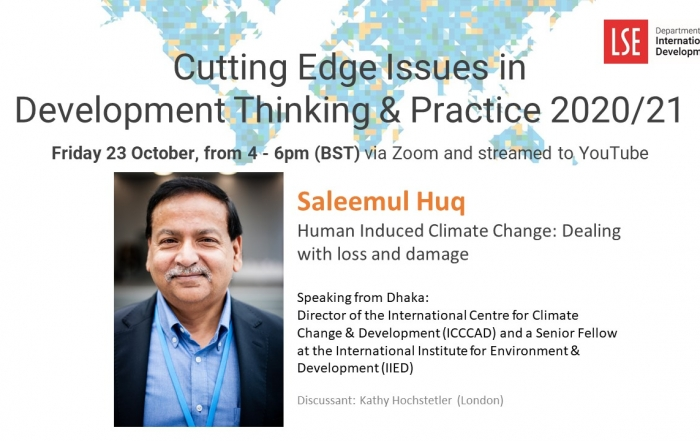 Cutting Edge Issues in Development – Human Induced Climate Change: Dealing with loss and damage