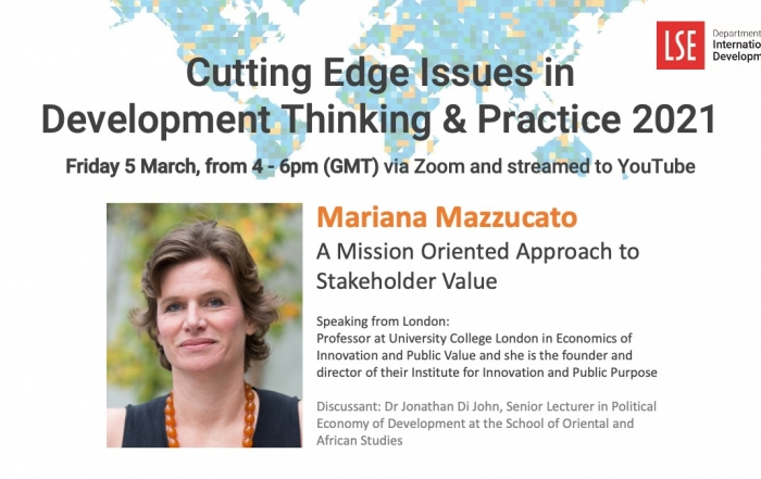 Cutting Edge Issues in Development   A Mission Oriented Approach to Stakeholder Value