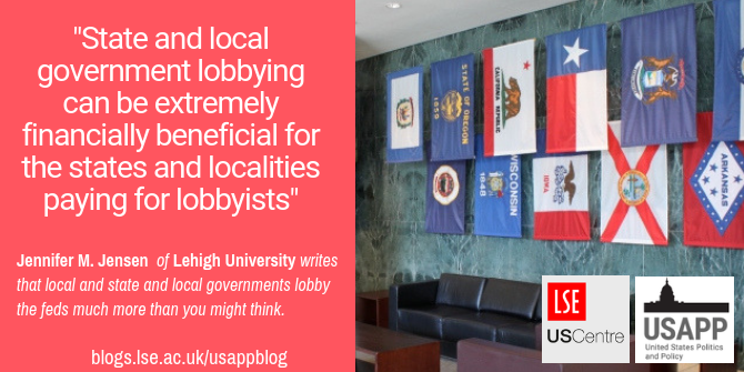 Local and state governments lobby the feds much more than you might