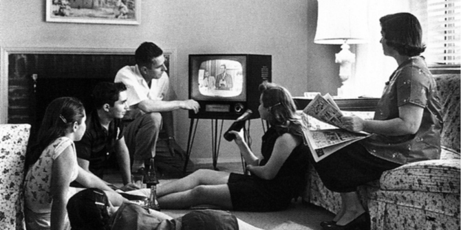 US media were very partisan once before. Then television arrived.