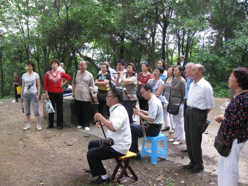 Park musicians in Kaili. Photo taken June 2010