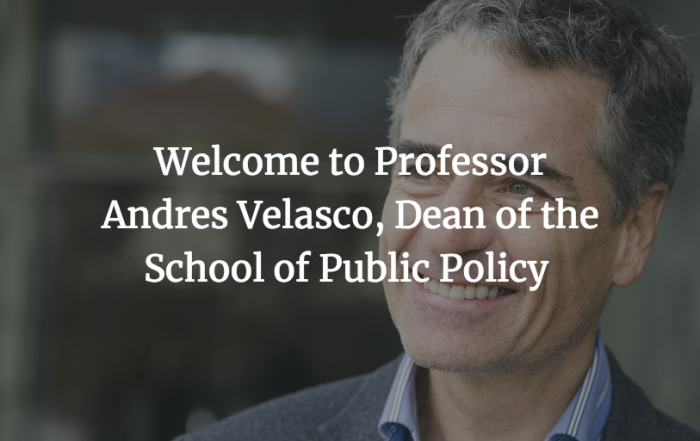 Welcoming the inaugural Dean of LSE's new School of Public Policy