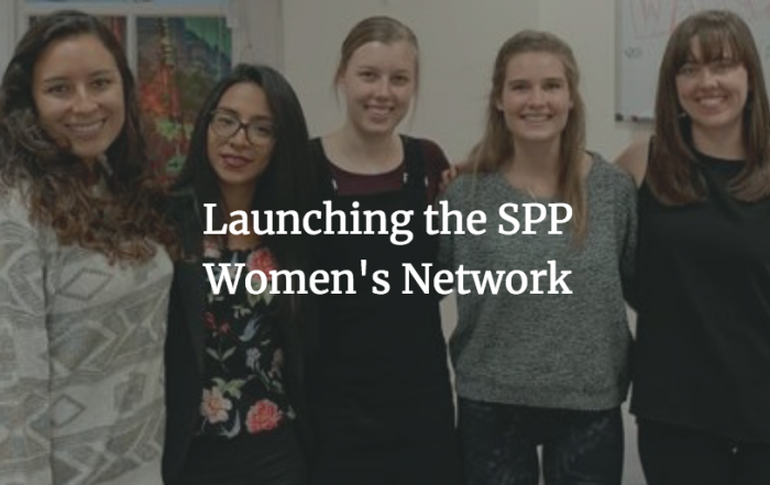 Launching the School of Public Policy Women's Network