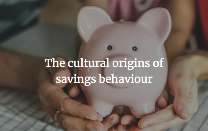 Dr Berkay Ozcan on the cultural origins of savings behaviour