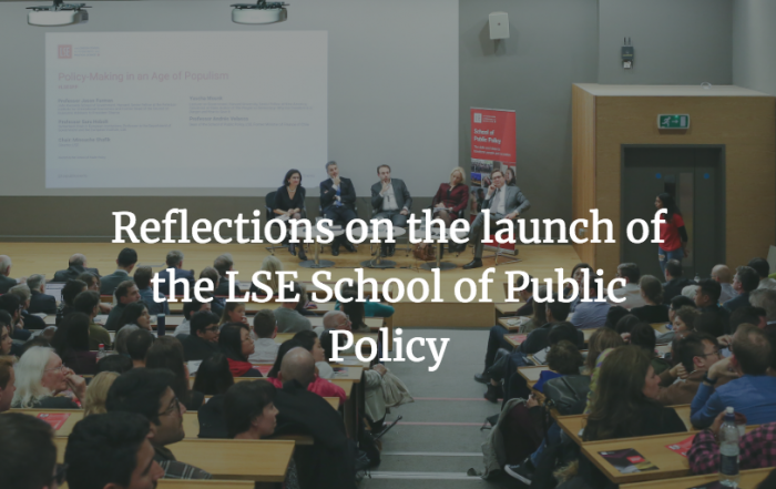 Launching the LSE School of Public Policy