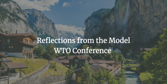 Sachiko Kureta reflects on the 2019 Model WTO Conference