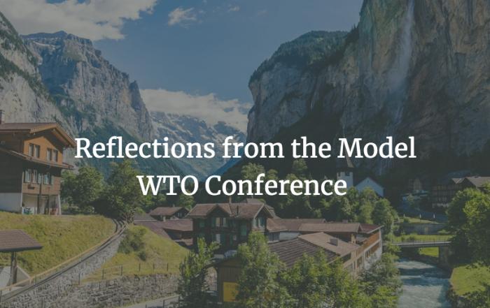 Sachiko Kureta reflects on the 2019 Model WTO Conference