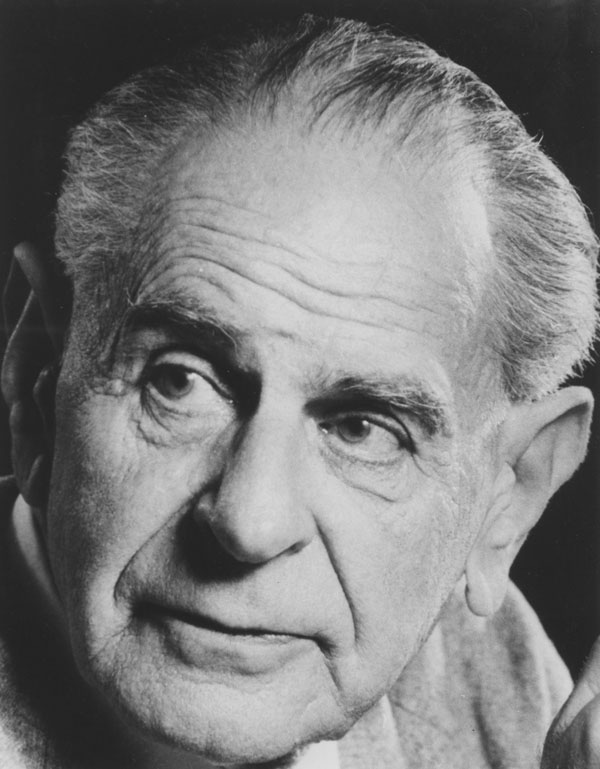 Karl Popper c 1980s. IMAGELIBRARY/5. LSE