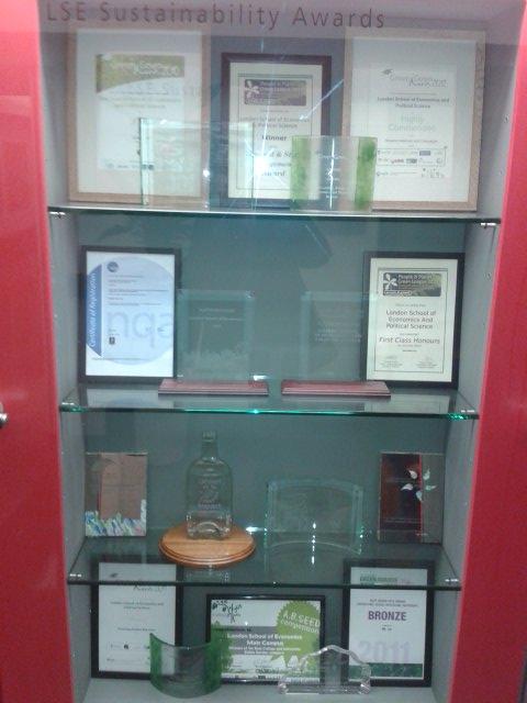 LSE sustainability awards cabinet