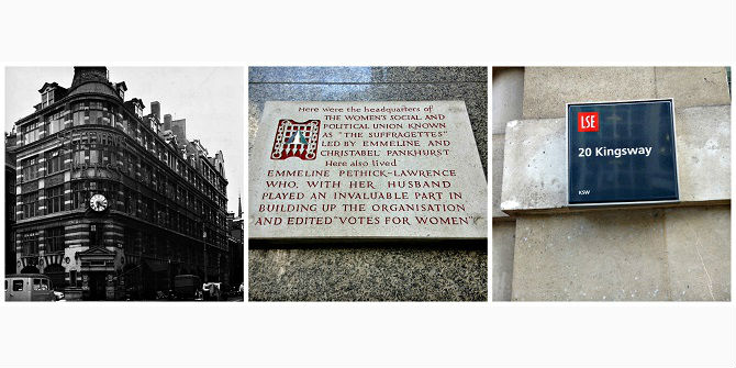 Suffragettes and LSE – early neighbours