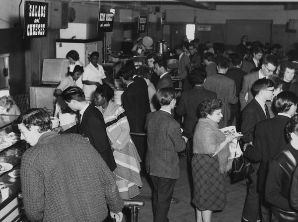 The Refectory, 1964. Photograph taken during the making of a BBC documentary. IMAGELIBRARY/167. LSE