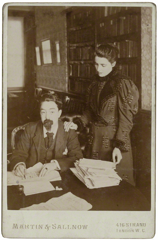 Sidney and Beatrice Webb by Martin & Sallnow, mid 1890s. NPG