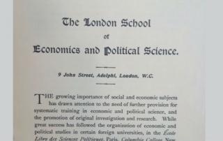 LSE;s first prospectus. Credit: LSE Library