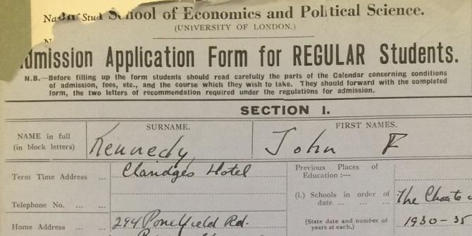 LSE's almost alumnus – John Fitzgerald Kennedy (1917-1963)
