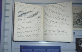 Beatrice Webb's diary on display at LSE Library's Foundations: LSE and the Science of Society' exhibition, 2015. Credit: Hayley Reed