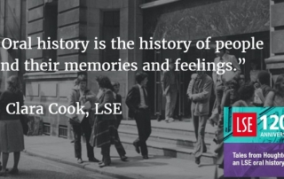 Clara Cook on the making of LSE's oral history