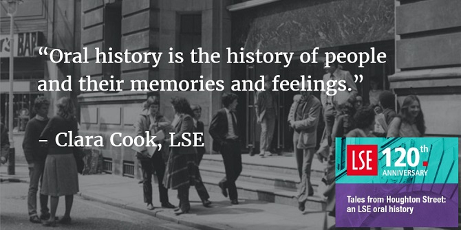 Making an LSE oral history