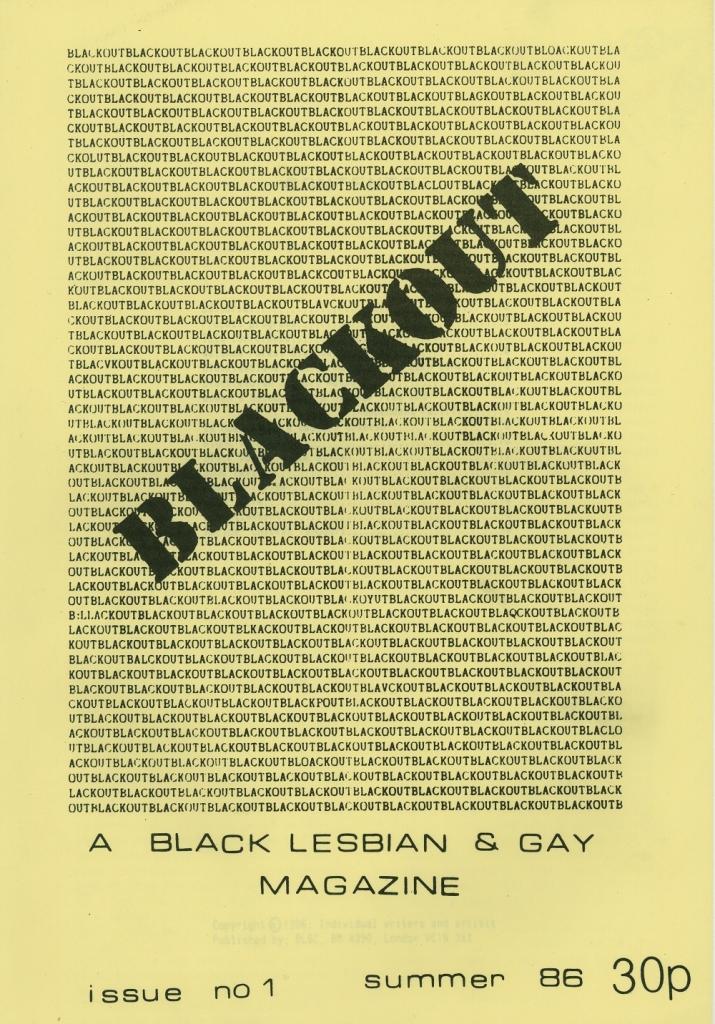 Blackout magazine cover, Hall Carpenter Archive Ephemera 45. LSE