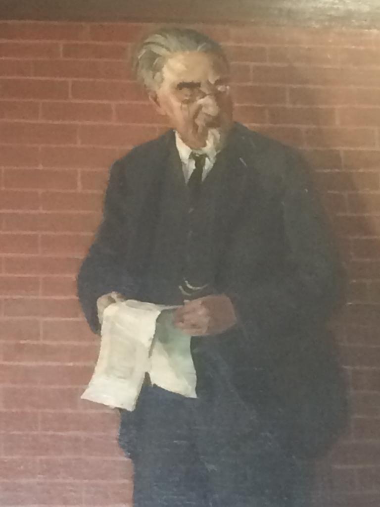 Sidney Webb in the Webb portrait. Photo taken by Sue Donnelly