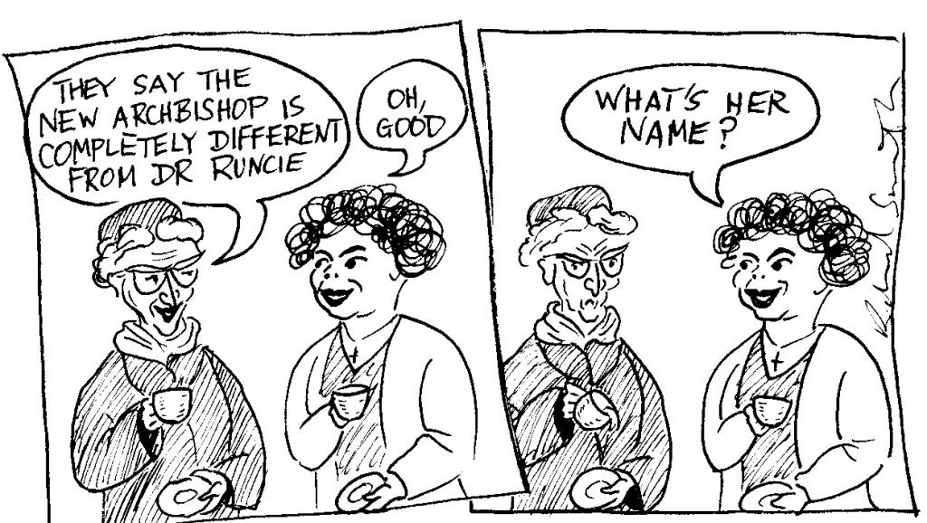 Archbishop Runcie cartoon