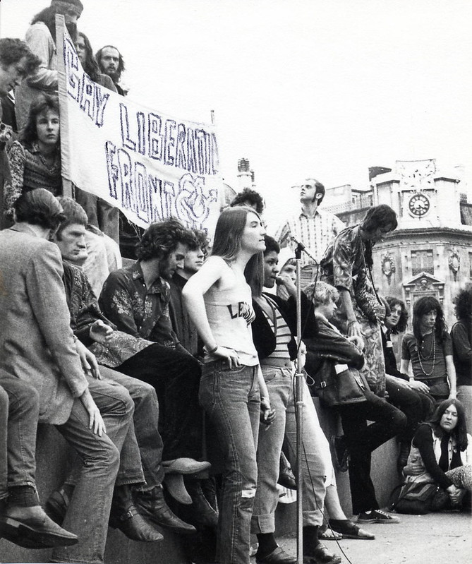 Demonstration, with Gay Liberation Front Banner, c1972. IMAGELIBRARY/1370. LSE