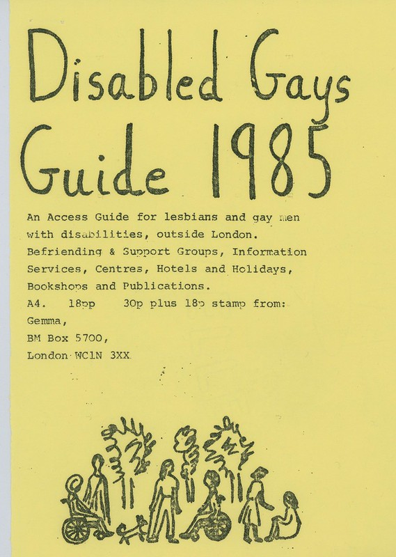 Disabled Gays Guide, 1985. HCA CHE2 12 17 (2). LSE