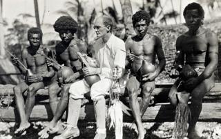 Malinowski with Trobriand Islanders, 1918