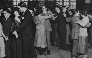Lunch hour dance 1920 featuring Sydney Caine credit LSE Library