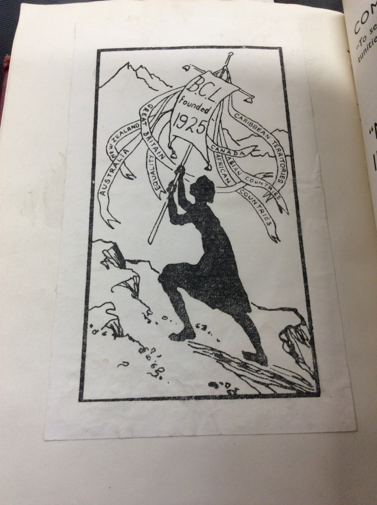A book plate from British Commonwealth conference reports volume. Credit: LSE Library