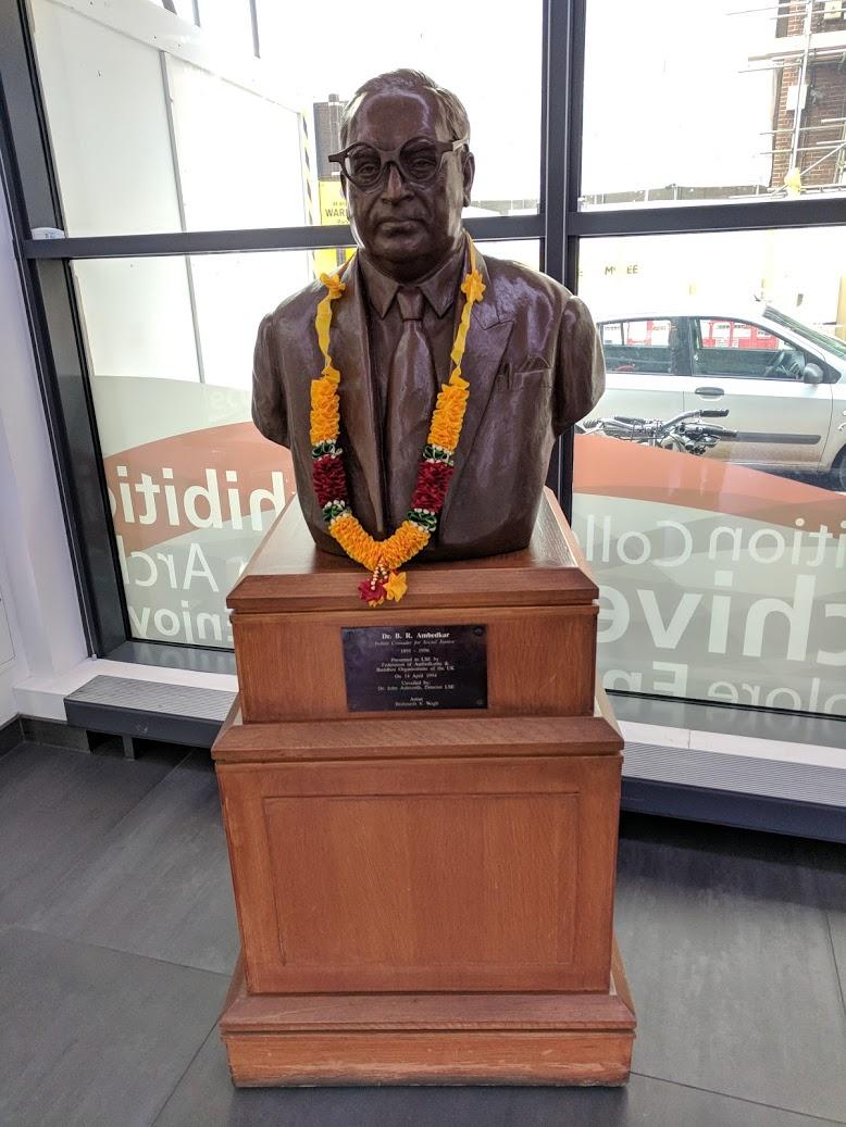 Ambedkar bust at LSE Library. Credit: Daniel Payne