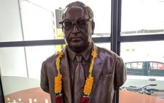 Ambedkar bust at LSE Library 2. Credit: Daniel Payne