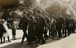 Flora Drummond and others under arrest, 1914. 7JCCO02065 credit LSE Library