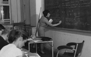 Kathleen Spitz nee Gales teaching 1964. Credit: LSE Library