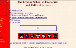 LSE homepage 1996 credit UK web archive