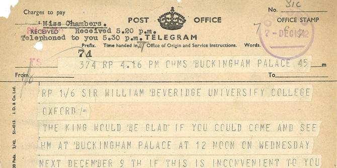 William Beveridge and his Report