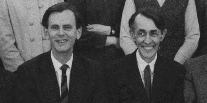 Brian Abel-Smith and Richard Titmuss. Credit: LSE Library