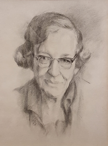 Vera Anstey pencil portrait. Origin unknown. Credit: Sue Donnelly