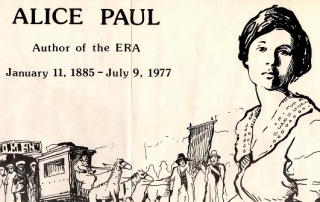 Alice Paul line drawing