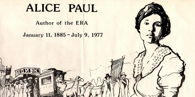 Alice Paul – a suffragette from LSE