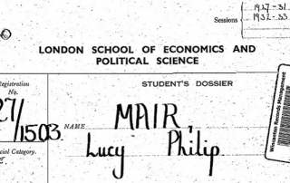 Lucy Mair student record