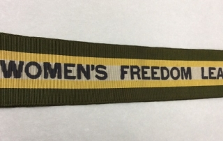 Women's Freedom League sash