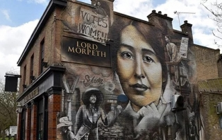 Syliva Pankhurst mural via Flickr