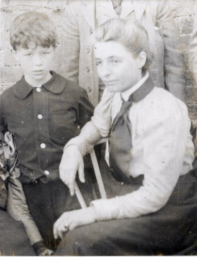 Beatrice Webb and boy, assumed to be one of her nephews, 1900. IMAGELIBRARY/1359. LSE