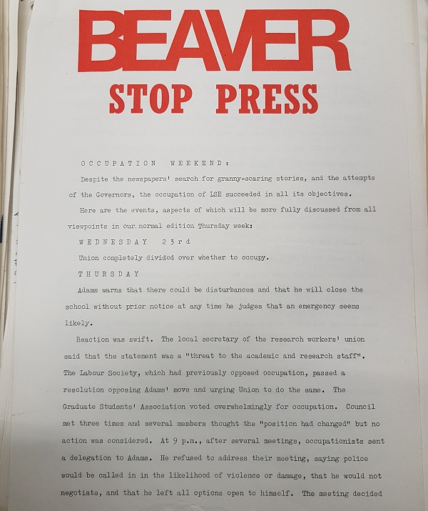 Beaver Stop Press October 1968