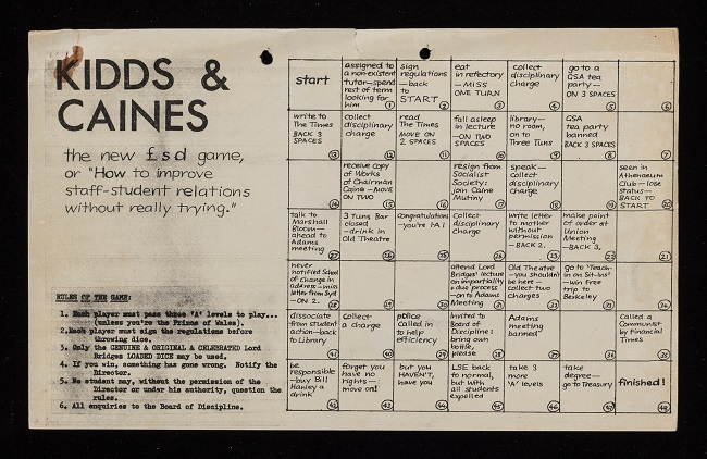 Kidds and Caines Board Game (Ref: LSE/Small LSE Deposits/143)