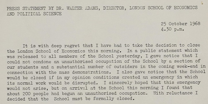 Whatever happened to the revolution? LSE in the 60s