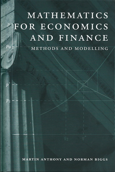 Mathematics for Economics and Finance cover