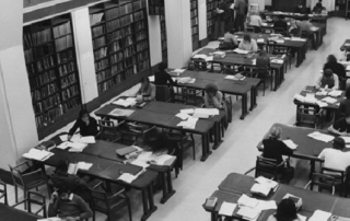 Economics reading room 1970s