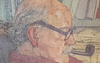 close up of a portrait of R H Tawney