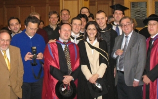 Staff and students at graduation in December 2006